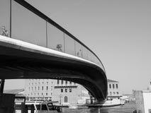 Ponte della Costituzione in Venice in black and white Stock Photos