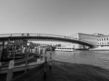 Ponte della Costituzione in Venice in black and white Royalty Free Stock Photography