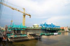Ponte della costruzione Immagini Stock