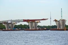 Ponte della costruzione sul diametro ad alta velocità occidentale Fotografie Stock