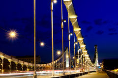 Ponte della Crimea alla notte, Mosca, Russia Fotografia Stock