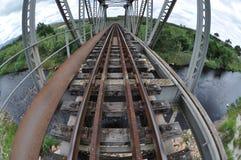 Ponte della ferrovia Fotografie Stock