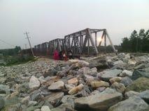 Ponte della ferrovia Immagini Stock