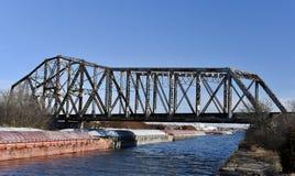 Ponte della ferrovia dei limoni Fotografie Stock Libere da Diritti