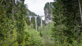 Ponte della ferrovia del viadotto di Andwasser, Svizzera Fotografia Stock