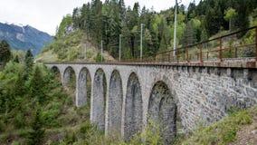 Ponte della ferrovia del viadotto di Andwasser, Svizzera Immagine Stock