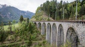 Ponte della ferrovia del viadotto di Andwasser, Svizzera Fotografie Stock Libere da Diritti