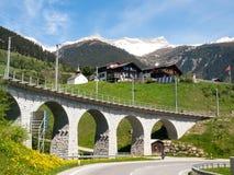 Ponte della ferrovia di Rhaetian Immagine Stock Libera da Diritti