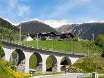 Ponte della ferrovia di Rhaetian Immagini Stock Libere da Diritti