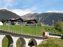 Ponte della ferrovia di Rhaetian Fotografia Stock