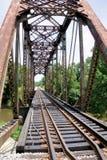 Ponte della ferrovia sopra il ramo del fiume delle Perle Fotografie Stock