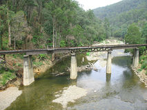 Ponte della ferrovia, Walhalla Fotografie Stock Libere da Diritti