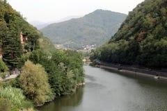 Ponte della Maddalena across the Serchio. Stock Image