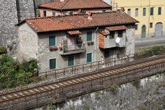 Ponte della Maddalena across the Serchio. Stock Photo