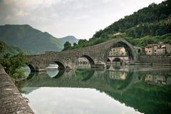 Ponte Della Maddalena, Italien Arkivbild