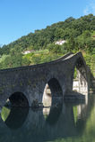 Ponte della Maddalena (Lucca, Toskana) Stockbild