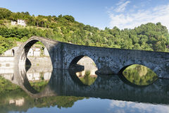 Ponte della Maddalena (Lucca, Tuscany) Stock Photography
