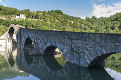 Ponte della Maddalena (Lucca, Tuscany) Royalty Free Stock Photography
