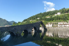 Ponte della Maddalena (Lucca, Tuscany) Royalty Free Stock Photo