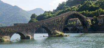 Ponte della Maddalena (Tuscany, Italy) Stock Images