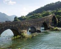Ponte della Maddalena (Tuscany, Italy) Royalty Free Stock Images