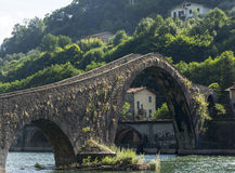 Ponte della Maddalena (Tuscany, Italy) Stock Photography