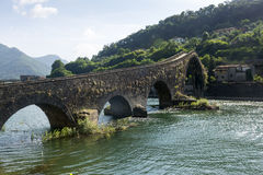 Ponte della Maddalena Tuscany, Włochy (,) Obraz Royalty Free