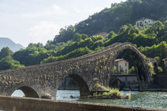 Ponte della Maddalena Tuscany, Włochy (,) Fotografia Stock