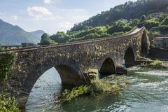 Ponte della Maddalena Tuscany, Włochy (,) Zdjęcia Royalty Free