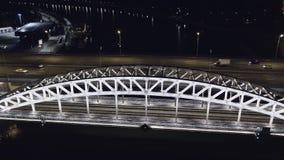 Ponte della metropolitana di Luzhniki stock footage