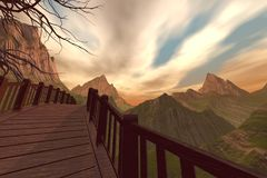 Ponte della montagna Immagini Stock Libere da Diritti