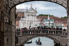 Ponte della Paglia bridge in Venice, Italy Stock Photo