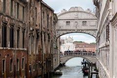 Ponte della Pagliaand Bridge ofSighs Royalty Free Stock Photo