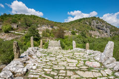 Ponte della pietra di Kalogeriko Zagori centrale, Grecia Immagine Stock Libera da Diritti