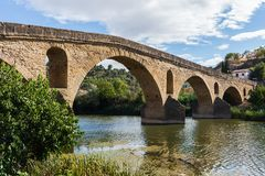 Ponte della reina della La di Puente, Navarra Spagna Immagini Stock Libere da Diritti