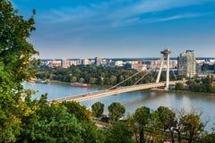 Ponte della rivolta nazionale slovacca Fotografia Stock