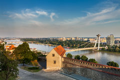 Ponte della rivolta nazionale slovacca Immagine Stock