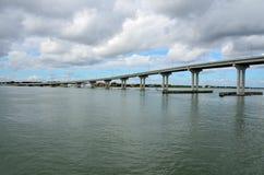 Ponte della spiaggia di Vilano in Florida fotografia stock