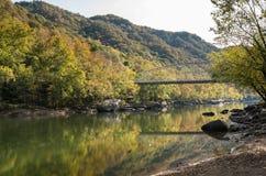 Ponte della stazione di Fayette in Virginia Occidentale immagine stock libera da diritti