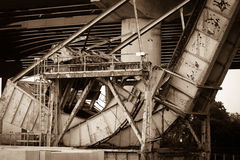 Ponte della strada di ferrovia di Inudstrial Immagini Stock Libere da Diritti