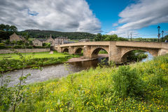 Ponte della strada a Rothbury Fotografia Stock Libera da Diritti