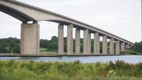 Ponte della strada sopra il fiume Orwell Fotografia Stock