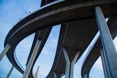 Ponte della superstrada di complessità fotografia stock