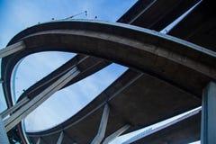 Ponte della superstrada di complessità immagini stock libere da diritti