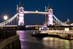 Ponte della torre al crepuscolo, Londra Fotografia Stock