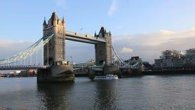 Ponte della torre di Londra stock footage