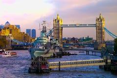 Ponte della torre e Belfast - Londra Fotografia Stock Libera da Diritti