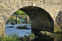 Ponte della valvola di Postbridge Fotografie Stock