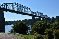 Ponte della via della noce a Chattanooga, Tennessee Fotografia Stock
