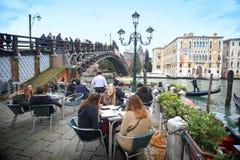 Ponte dellden akademiska världen i Venedig Royaltyfria Foton